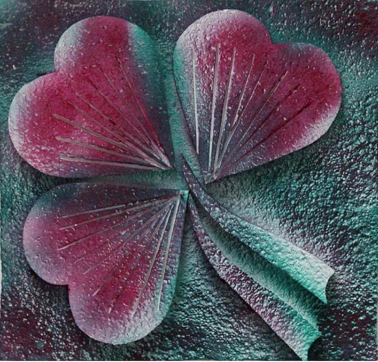 ANDREAS SLOMINSKI, Los 42, Schätzpreis: 5.000 — 6.000 Euro Eingeliefert vom Künstler KLEE 2006 ACRYLFARBEN AUF POLYSTYROL 50 × 52,5 × 6 CM